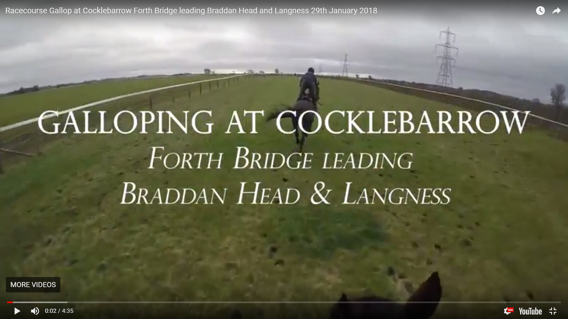 Racecourse Gallop at Cocklebarrow Forth Bridge leading Braddan Head and Langness 29th January 2018