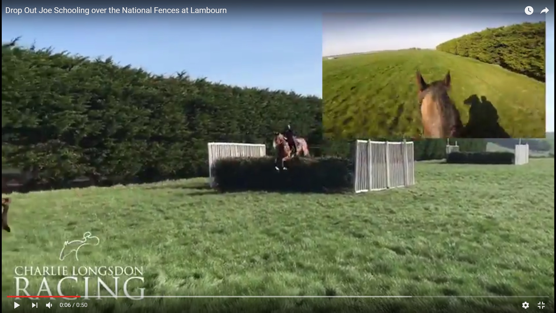 Drop Out Joe Schooling over National Fences in Lambourn