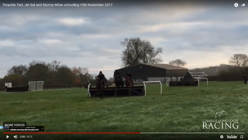Treackle Tart, Jet Set and Stormy Milan schooling 15th November 2017