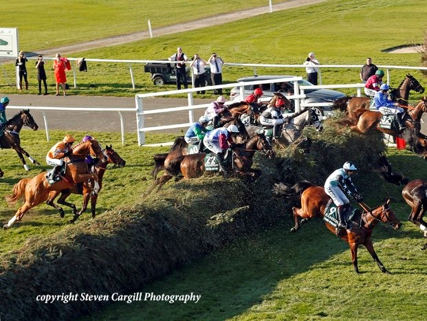 Drop Out Joe jumping in the Grand National Photo copyright Steven Cargill