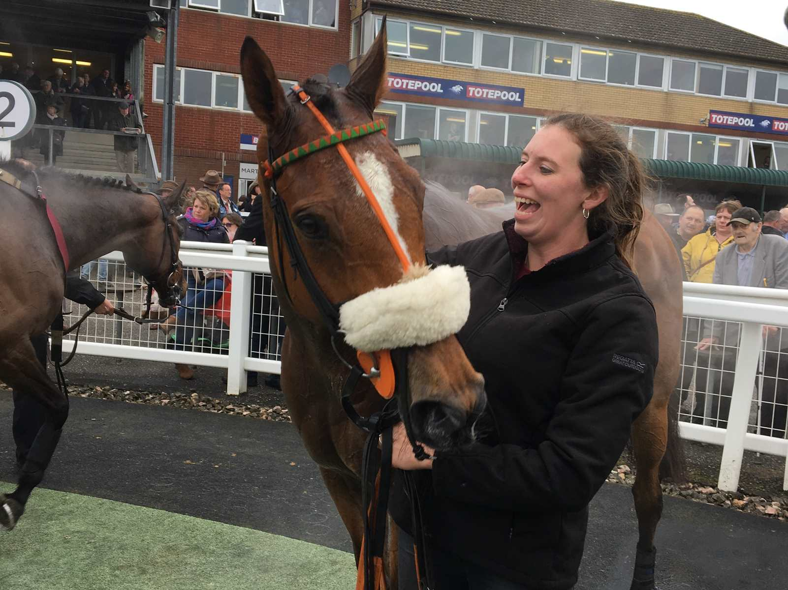 Leith Hill Lad & Gill after winning at Exeter Racecourse