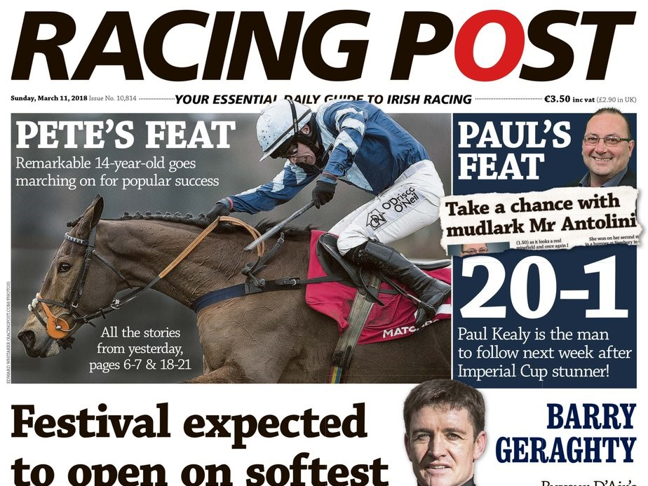 Front Page worthy....Racing Post