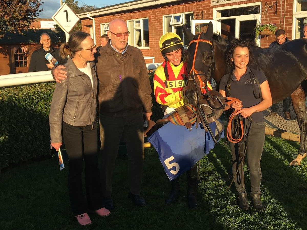 Scented Lily after winning at Market Rasen