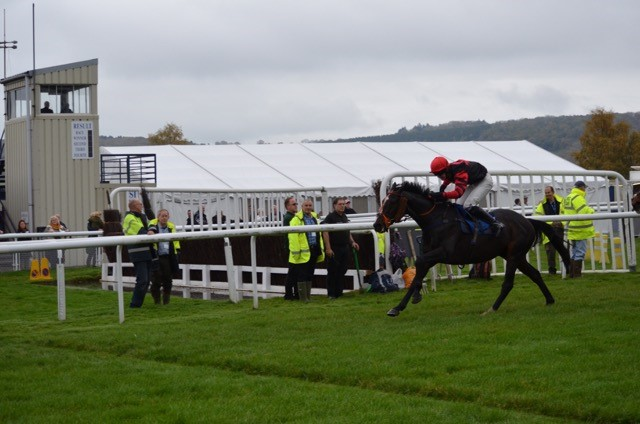 Fly Home Harry winning at Ludlow for The Charlie Longsdon Racing Club